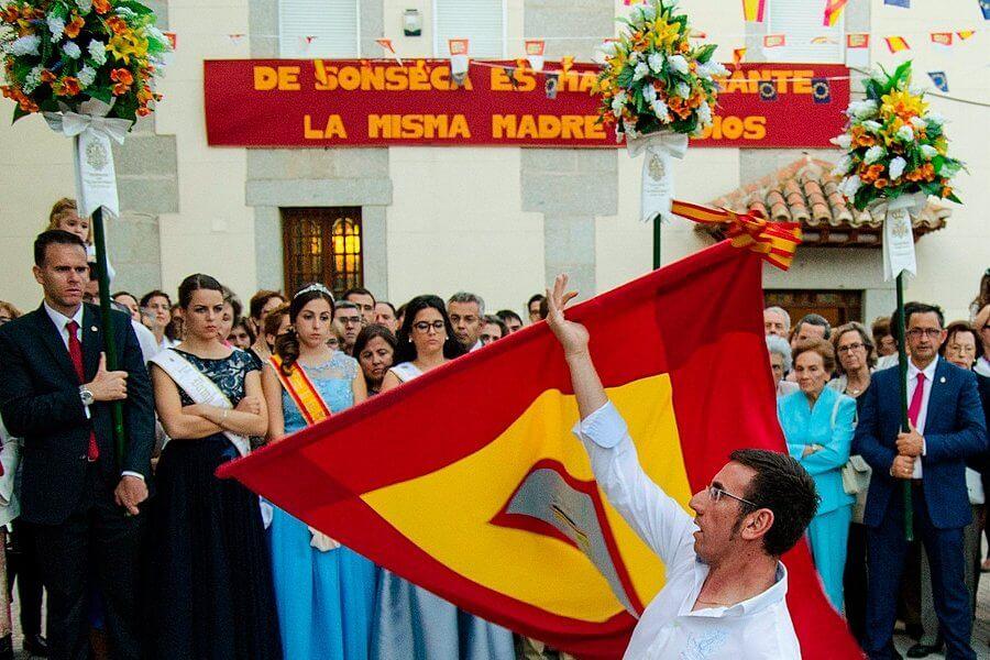 bailando la bandera sonseca